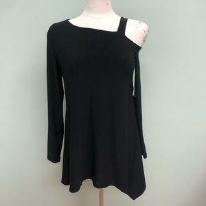 Sympli Tunic Shirt: Strut   Black (PM1823)
